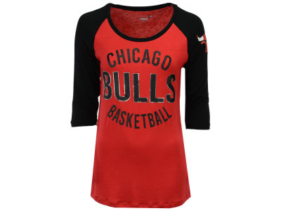 Chicago Bulls 5th & Ocean NBA Women's Rayon Raglan T-shirt
