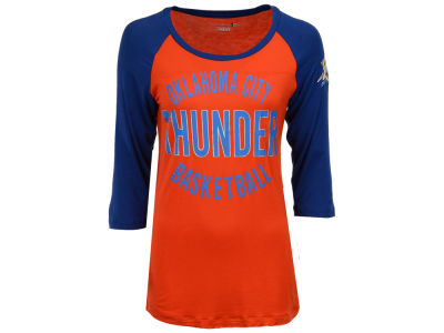 Oklahoma City Thunder 5th & Ocean NBA Women's Rayon Raglan T-shirt