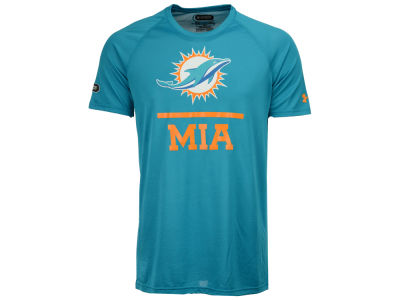 Miami Dolphins Under Armour NFL Men's Lockup Tech T-Shirt