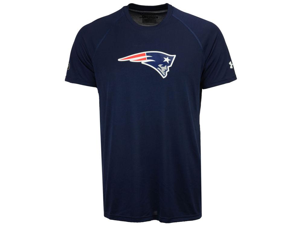 New England Patriots Under Armour NFL Men s Combine Logo T-Shirt ... 16b96d692