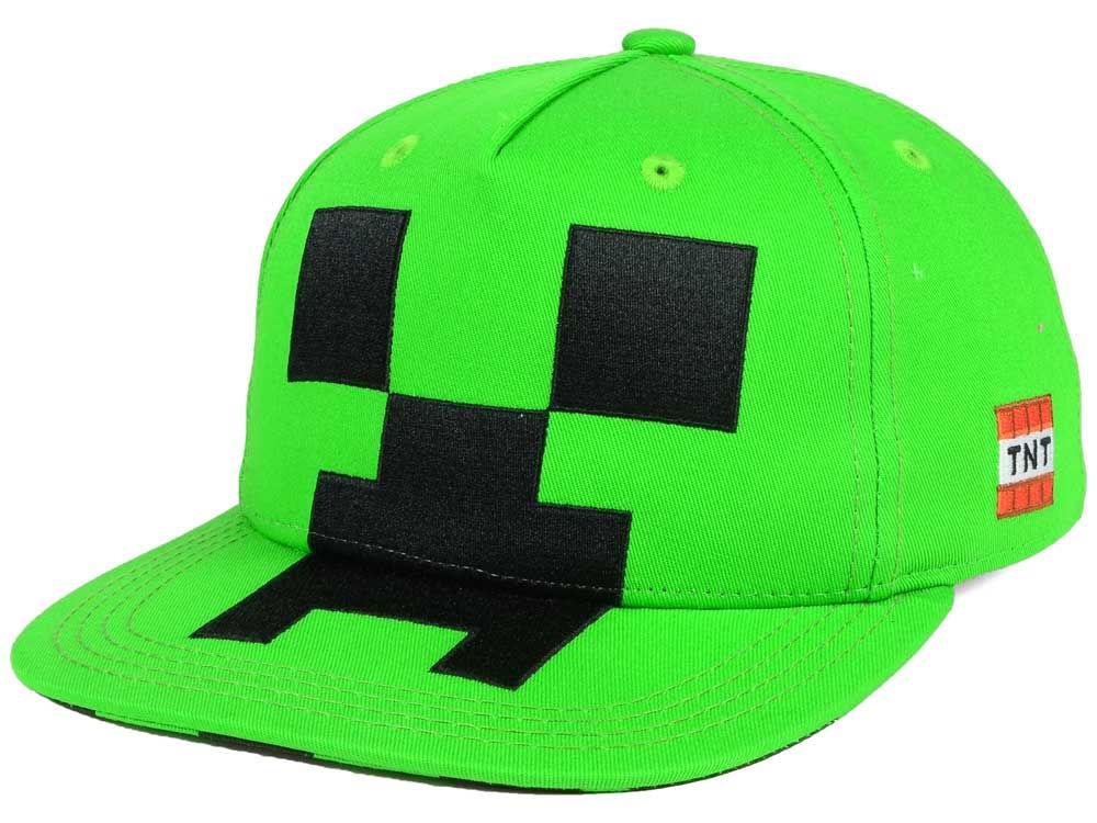bb5d215d448 Minecraft Youth Check Creeper Snapback Cap