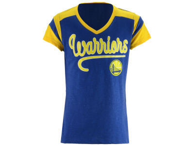Golden State Warriors 5th & Ocean NBA Youth Girls Contrast Slub T-Shirt