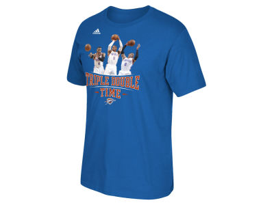 Oklahoma City Thunder Russell Westbrook adidas NBA Men's Triple Double Time T-Shirt