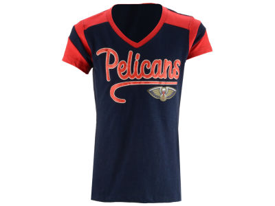New Orleans Pelicans 5th & Ocean NBA Youth Girls Contrast Slub T-Shirt