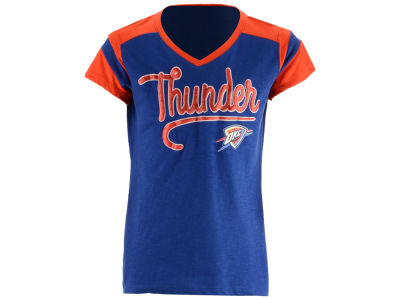 Oklahoma City Thunder 5th & Ocean NBA Youth Girls Contrast Slub T-Shirt