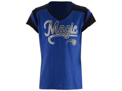 Orlando Magic 5th & Ocean NBA Youth Girls Contrast Slub T-Shirt