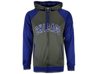 Chicago Cubs Majestic MLB Men's Fanatic Raglan Full-Zip Hoodie