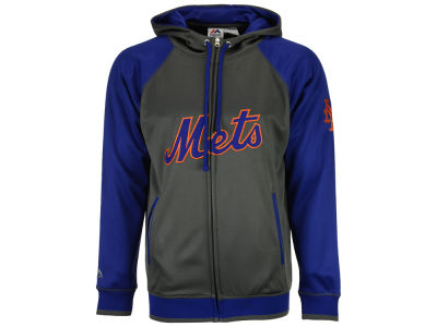 New York Mets MLB Men's Fanatic Raglan Full-Zip Hoodie
