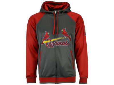St. Louis Cardinals Majestic MLB Men's Fanatic Raglan Full-Zip Hoodie