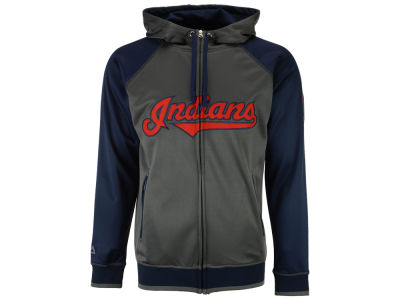 Cleveland Indians Majestic MLB Men's Fanatic Raglan Full-Zip Hoodie