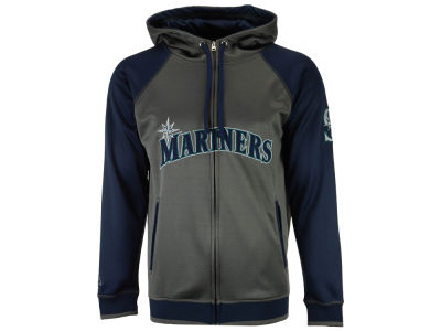 Seattle Mariners Majestic MLB Men's Fanatic Raglan Full-Zip Hoodie