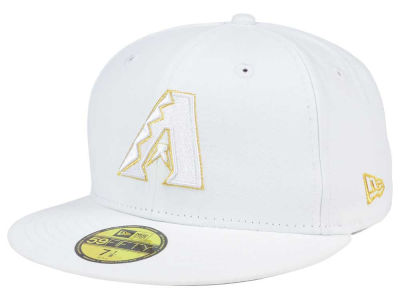 Arizona Diamondbacks New Era MLB White On Metallic 59FIFTY Cap