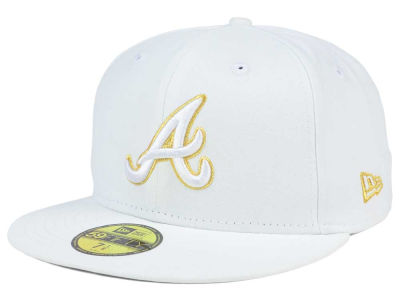 Atlanta Braves New Era MLB White On Metallic 59FIFTY Cap