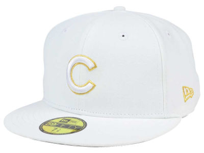 Chicago Cubs New Era MLB White On Metallic 59FIFTY Cap
