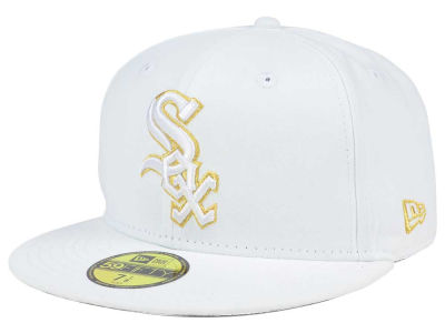 Chicago White Sox New Era MLB White On Metallic 59FIFTY Cap