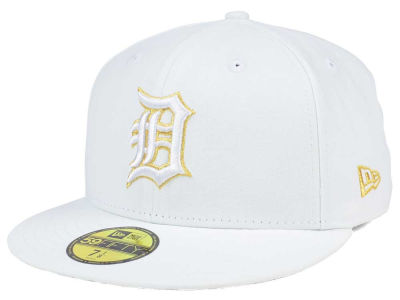 Detroit Tigers New Era MLB White On Metallic 59FIFTY Cap