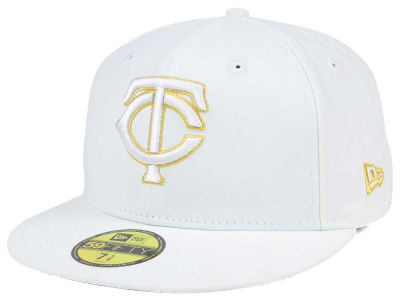 Minnesota Twins New Era MLB White On Metallic 59FIFTY Cap