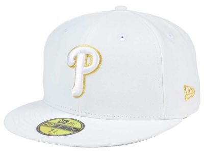 Philadelphia Phillies New Era MLB White On Metallic 59FIFTY Cap