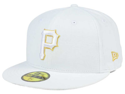 Pittsburgh Pirates New Era MLB White On Metallic 59FIFTY Cap