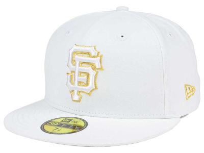 San Francisco Giants New Era MLB White On Metallic 59FIFTY Cap
