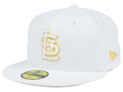 St. Louis Cardinals New Era MLB White On Metallic 59FIFTY Cap