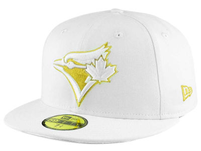 Toronto Blue Jays New Era MLB White On Metallic 59FIFTY Cap