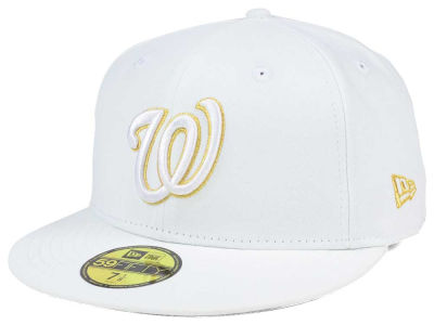 Washington Nationals New Era MLB White On Metallic 59FIFTY Cap