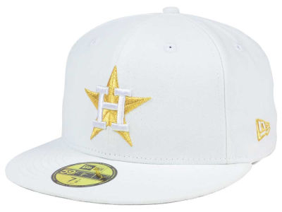 Houston Astros New Era MLB White On Metallic 59FIFTY Cap