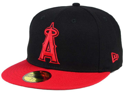 Los Angeles Angels New Era MLB Black & Red 59FIFTY Cap