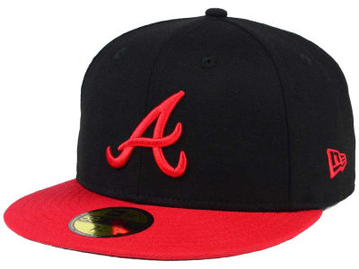 Atlanta Braves New Era MLB Black & Red 59FIFTY Cap