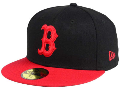 Boston Red Sox New Era MLB Black & Red 59FIFTY Cap