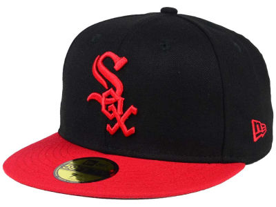 Chicago White Sox New Era MLB Black & Red 59FIFTY Cap