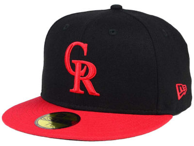 Colorado Rockies New Era MLB Black & Red 59FIFTY Cap