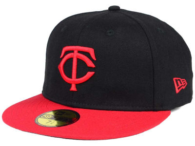 Minnesota Twins New Era MLB Black & Red 59FIFTY Cap