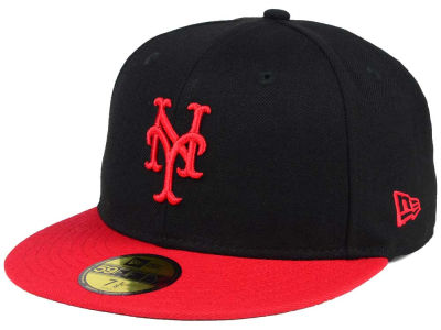 New York Mets New Era MLB Black & Red 59FIFTY Cap