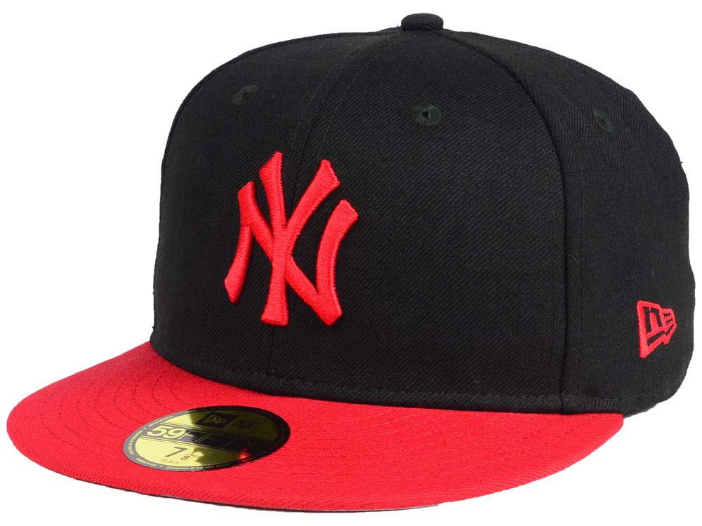New York Yankees New Era MLB Black   Red 59FIFTY Cap  186a5dbcc3d