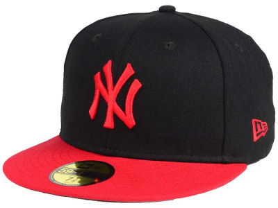 New York Yankees New Era MLB Black & Red 59FIFTY Cap