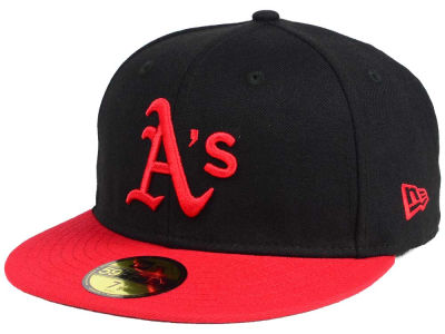 Oakland Athletics New Era MLB Black & Red 59FIFTY Cap