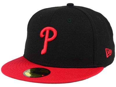 Philadelphia Phillies New Era MLB Black & Red 59FIFTY Cap