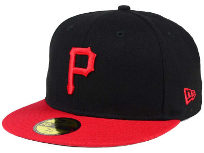Pittsburgh Pirates New Era MLB Black & Red 59FIFTY Cap
