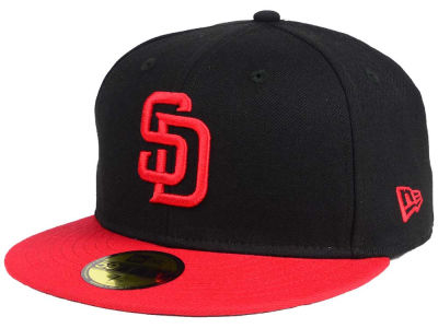 San Diego Padres New Era MLB Black & Red 59FIFTY Cap