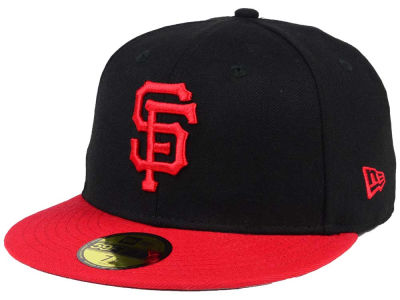 San Francisco Giants New Era MLB Black & Red 59FIFTY Cap