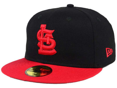St. Louis Cardinals New Era MLB Black & Red 59FIFTY Cap