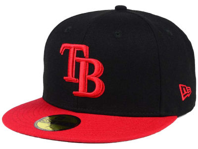 Tampa Bay Rays New Era MLB Black & Red 59FIFTY Cap