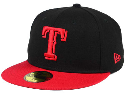 Texas Rangers New Era MLB Black & Red 59FIFTY Cap