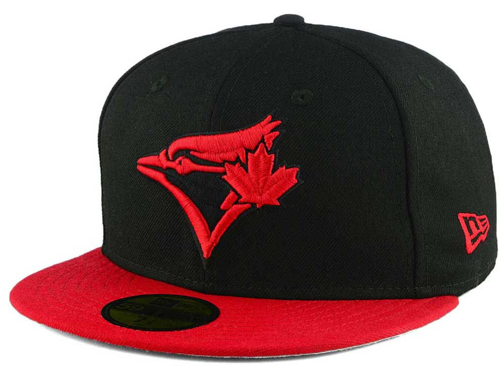 Toronto Blue Jays New Era MLB Black   Red 59FIFTY Cap  343812ff45e