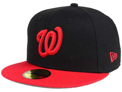 Washington Nationals New Era MLB Black & Red 59FIFTY Cap