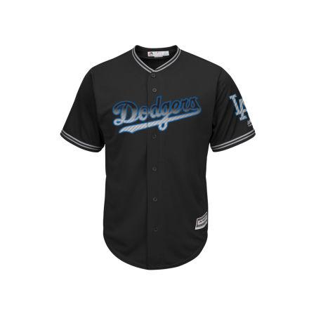 Los Angeles Dodgers Majestic MLB Men's Black Carbon Cool Base Jersey