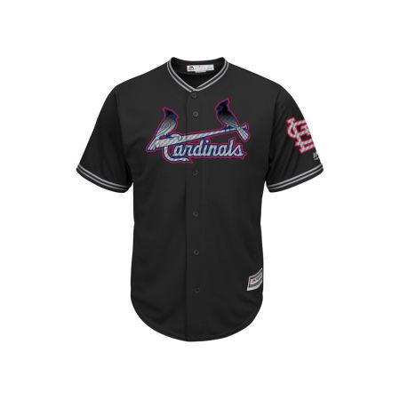 St. Louis Cardinals Majestic MLB Men's Black Carbon Cool Base Jersey