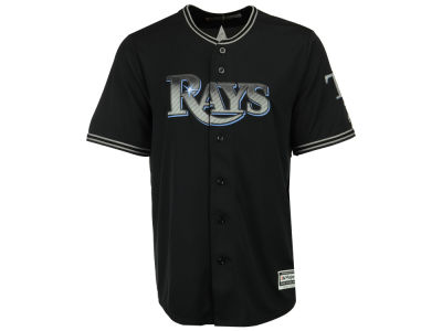 Tampa Bay Rays Majestic MLB Men's Black Carbon Cool Base Jersey